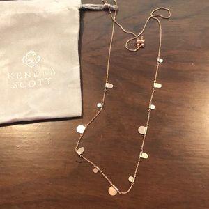 Kendra Scott Rose Gold Olive Necklace